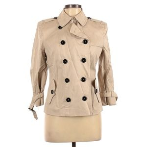 Burberry Belted Short Trench (Size 10)